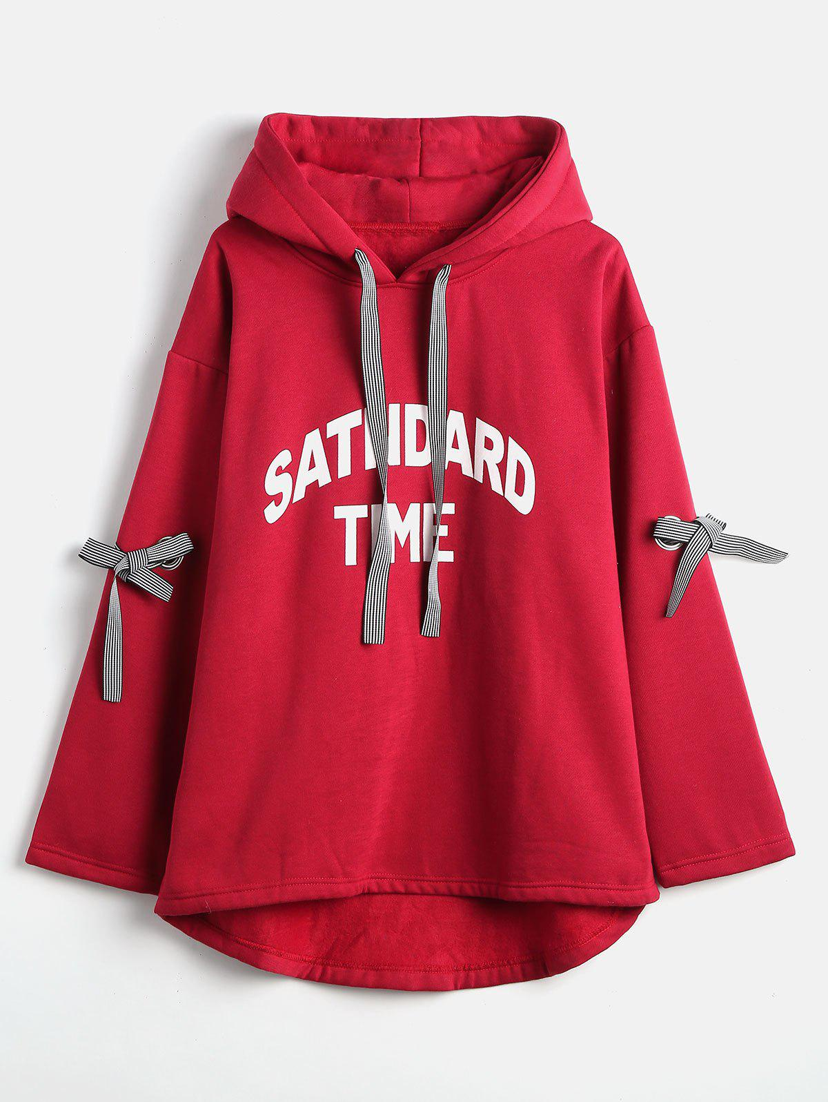 Outfits Plus Size Letter Pattern Hoodie