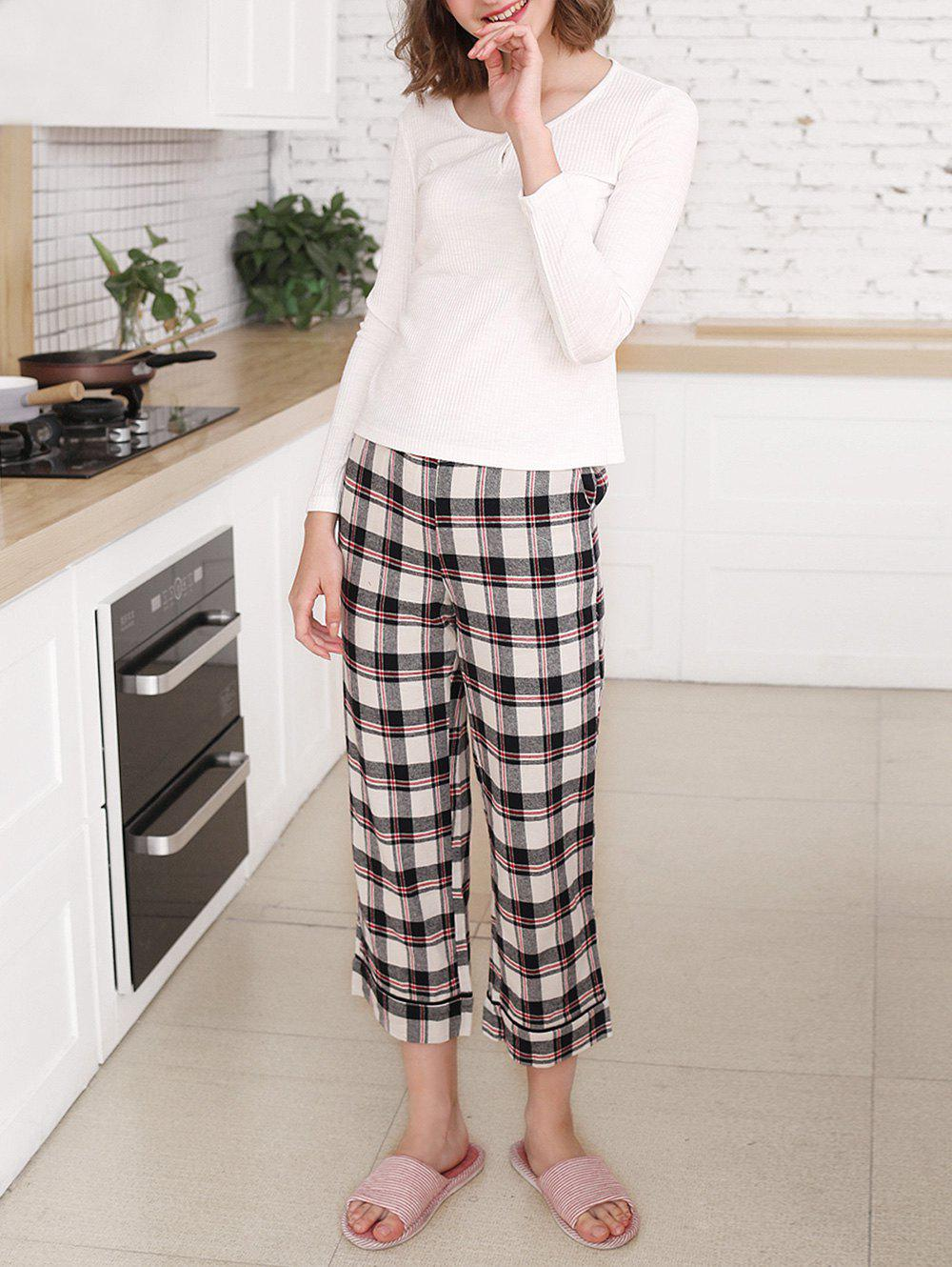 Buy Sleep Set Tee and Plaid Pants