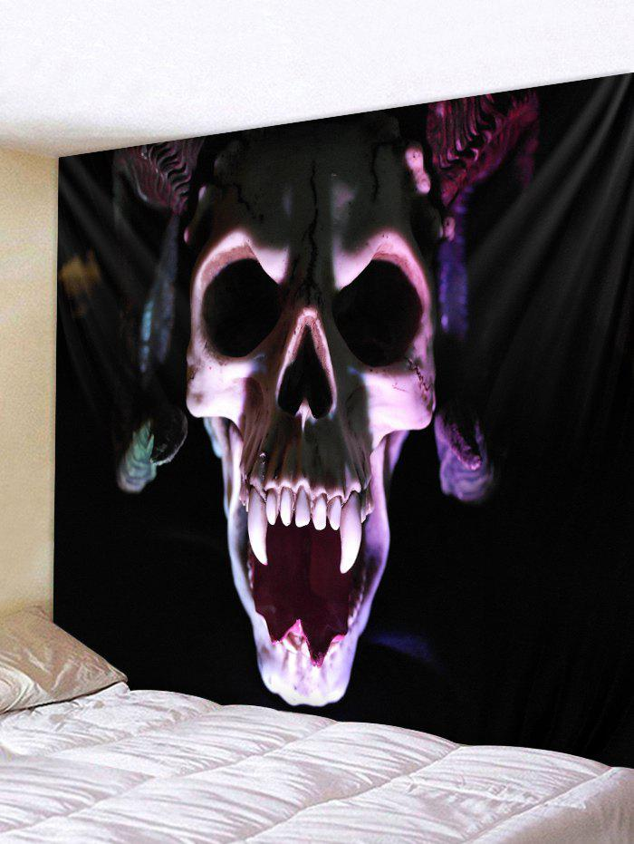 Store Halloween 3D Skull Print Wall Tapestry Art Decoration