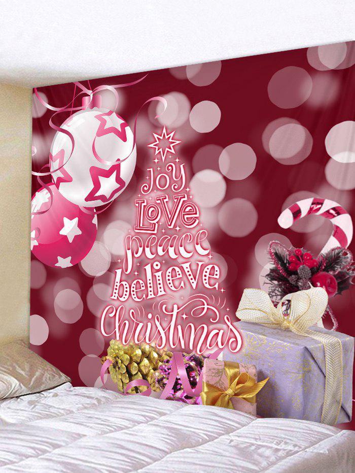 New Christmas Tree Believe Print Wall Tapestry Art Decoration