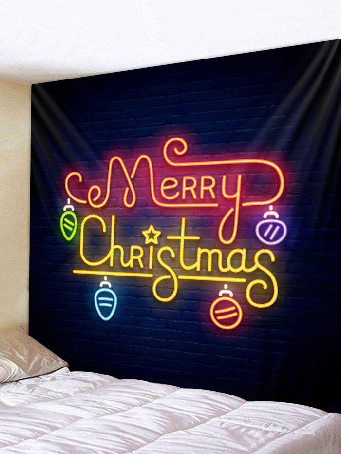 New Merry Christmas Light Print Wall Tapestry Art Decoration