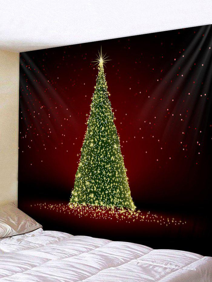 Affordable Christmas Tree Print Wall Tapestry Decoration