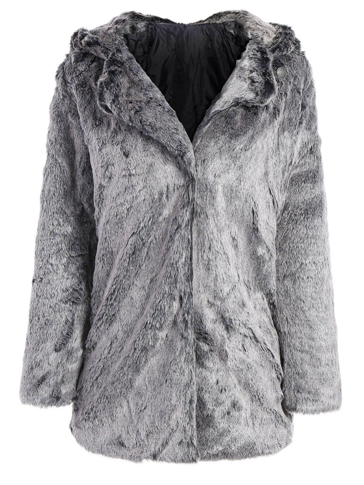 Affordable Hooded Faux Fur Bear Coat