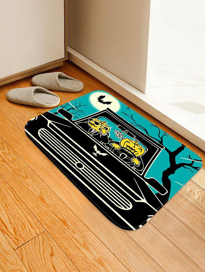 Affordable Pumpkin Bat Car Print Non Slip Area Rug