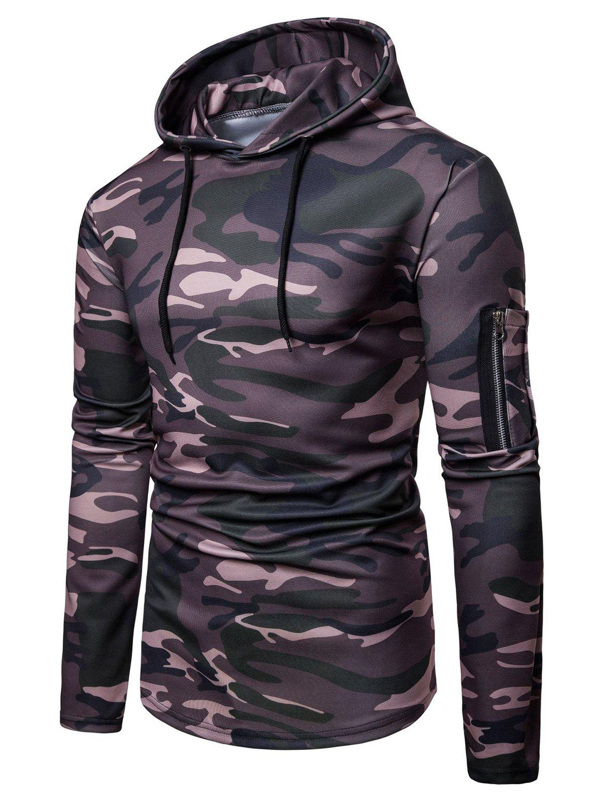 Best Camo Print Casual Pullover Hoodie