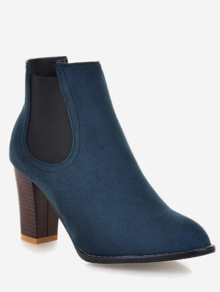 Shops Plus Size Pointed Toe Suede Chelsea Boots