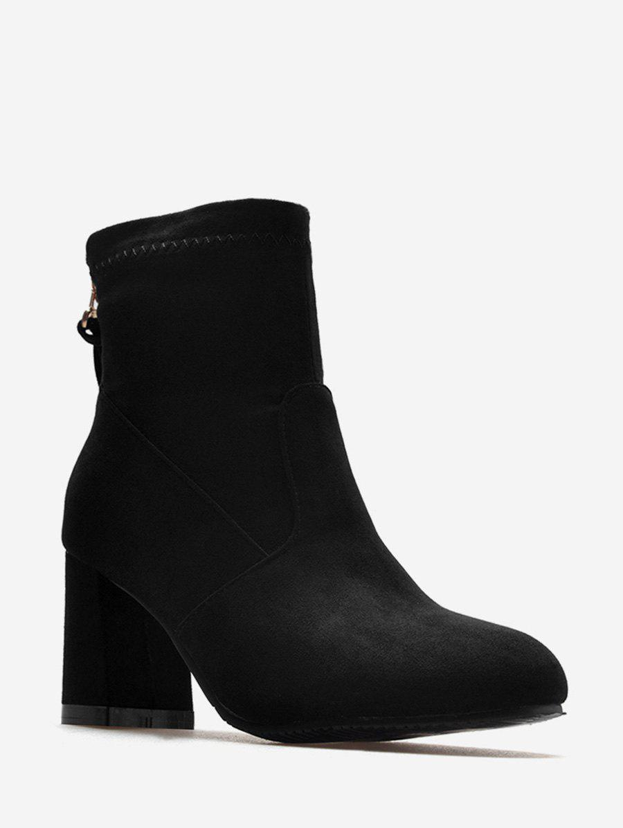 Latest Plus Size Back Zip Chunky Heel Ankle Boots