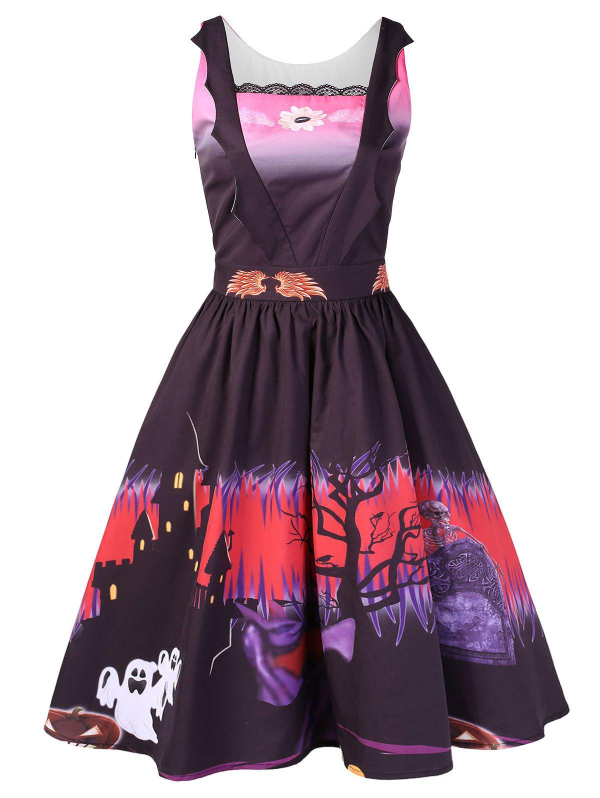 Shop Halloween Printed Vintage Swing Dress