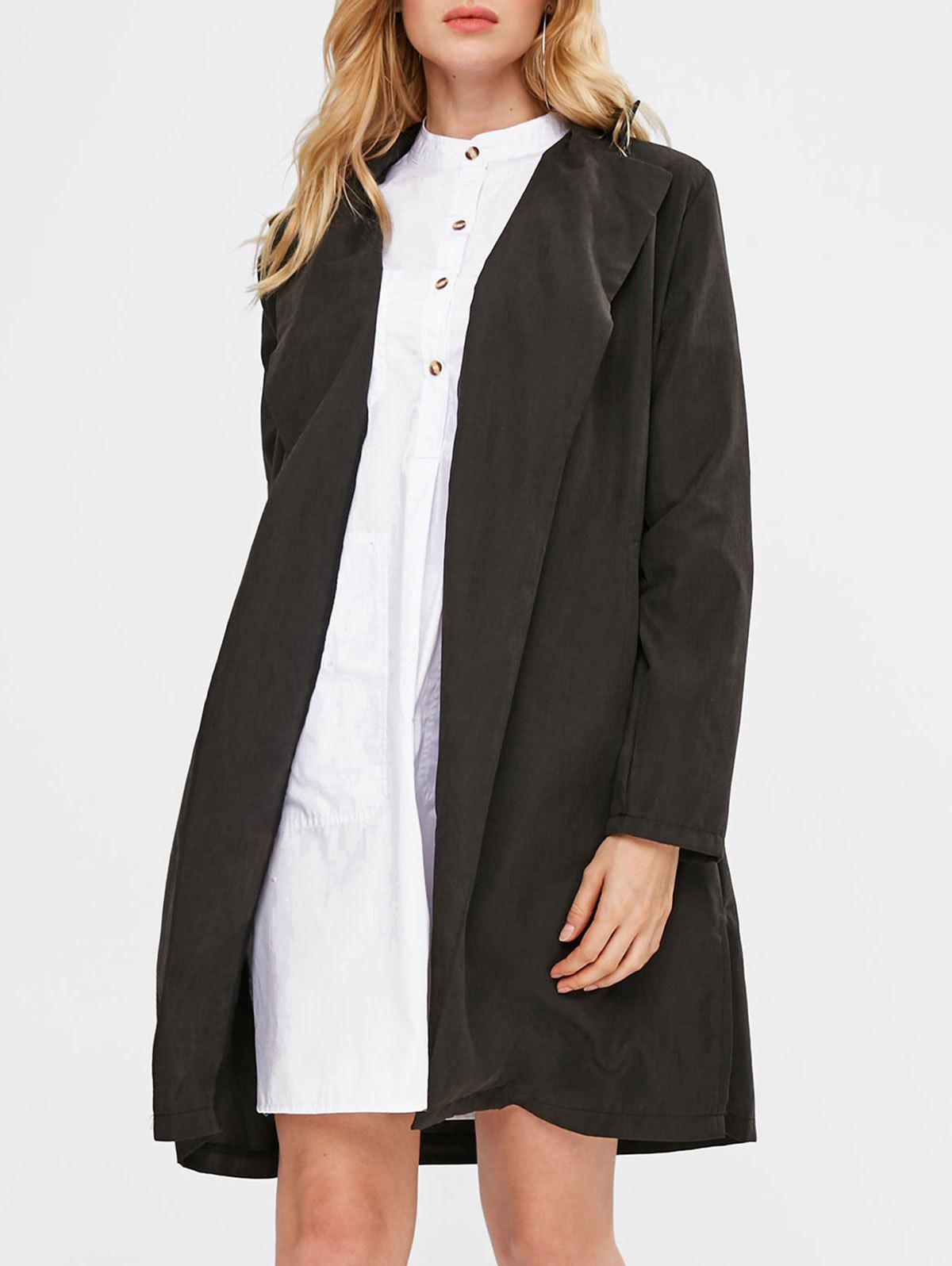 Manteau Long Maigre Noir S