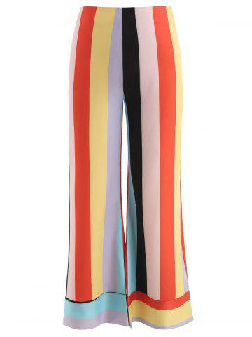 Wide Leg Colorful Striped Pants