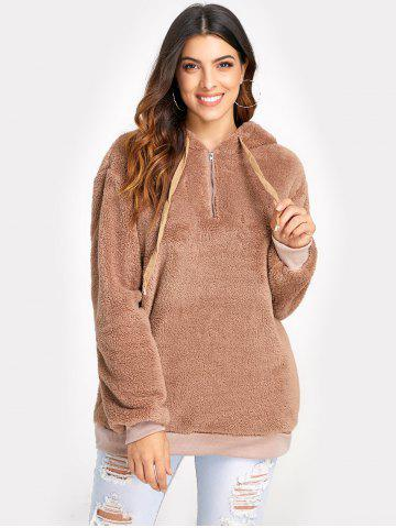 Tunic Faux Fur Pullover Hoodie