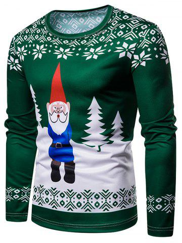 Santa Claus Christmas 3D Print Long Sleeves Tee