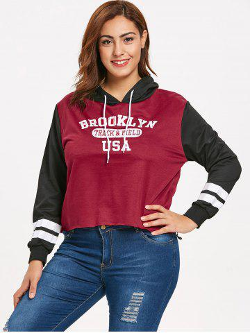 35a456b292e728 Plus Size High Low Graphic Pullover Hoodie