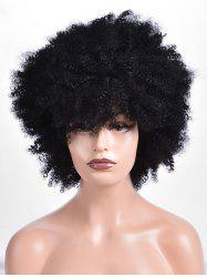 Short Side Fringe Shaggy Afro Curly Synthetic Wig -