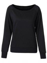 Chic Women's Pure Color Long Sleeve Sweatshirt -