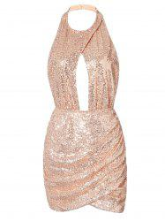 Cut Out Backless Sequin Dress -