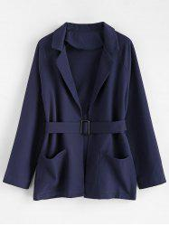 Plus Size Belted Coat -