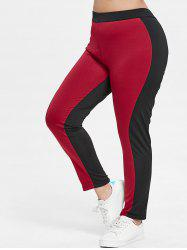Plus Size Color Block Leggings -