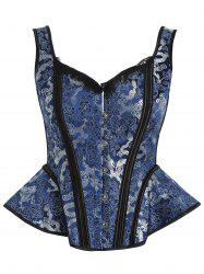 Dragon Pattern Sleeveless Corset -