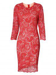 High Low Bodycon Lace Dress -