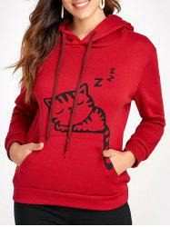 Kangaroo Pocket Cat Ear Hoodie -