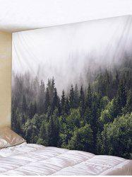 Misty Forest Print Tapestry Art Decoration -