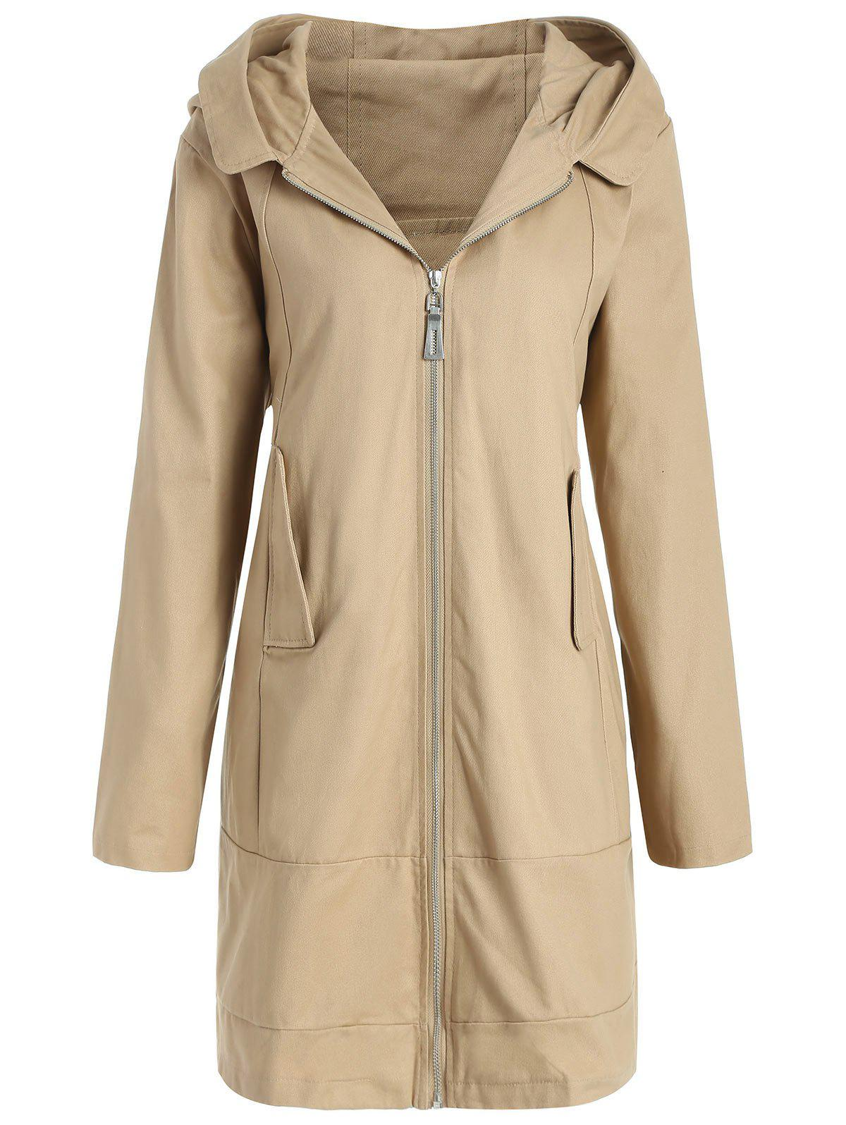 Sale Plus Size Hooded Long Coat