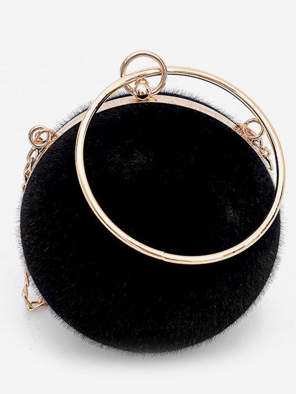 ad78aee19664 Discount Faux Fur Mini Round Crossbody Bag