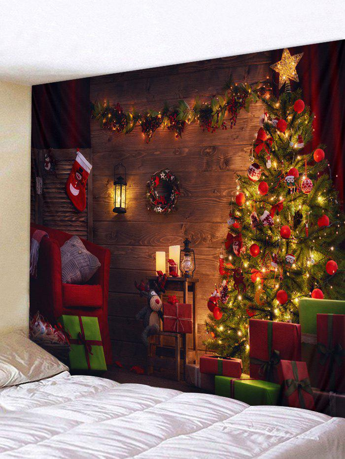 Unique Christmas Tree Gift Print Tapestry Art Decoration