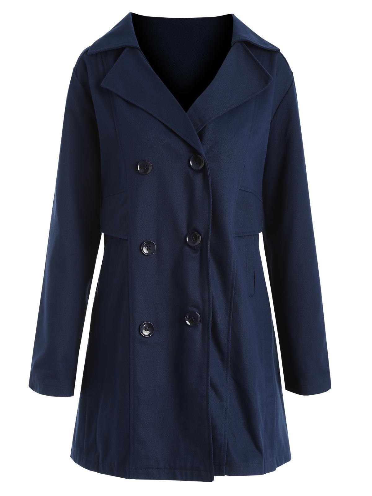Hot Plus Size Double Breasted Coat
