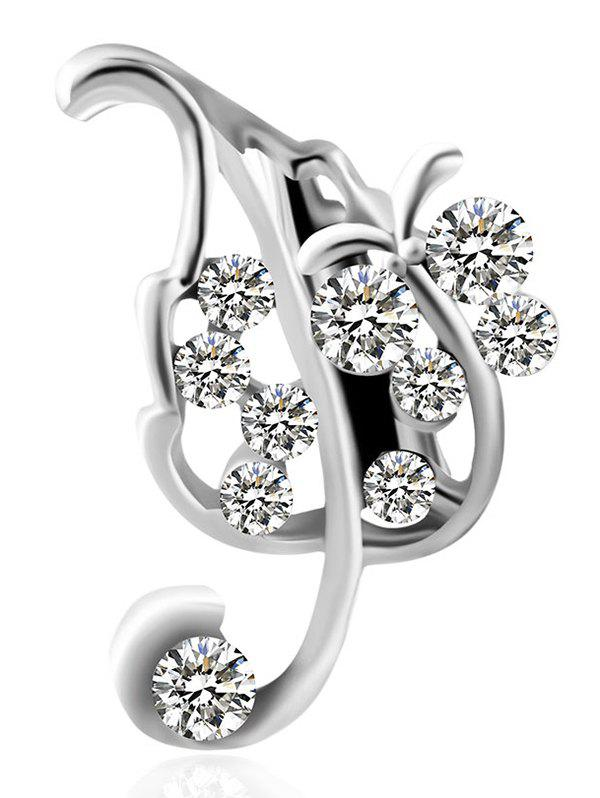 Outfit Alloy Leaf Design Artificial Diamond Brooch