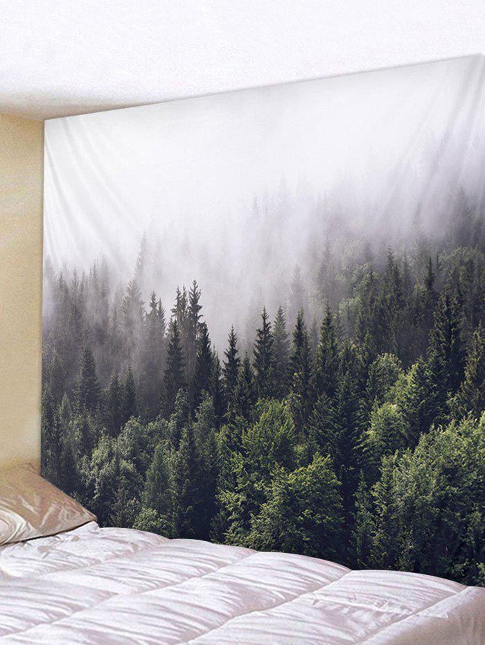 Cheap Misty Forest Print Tapestry Art Decoration