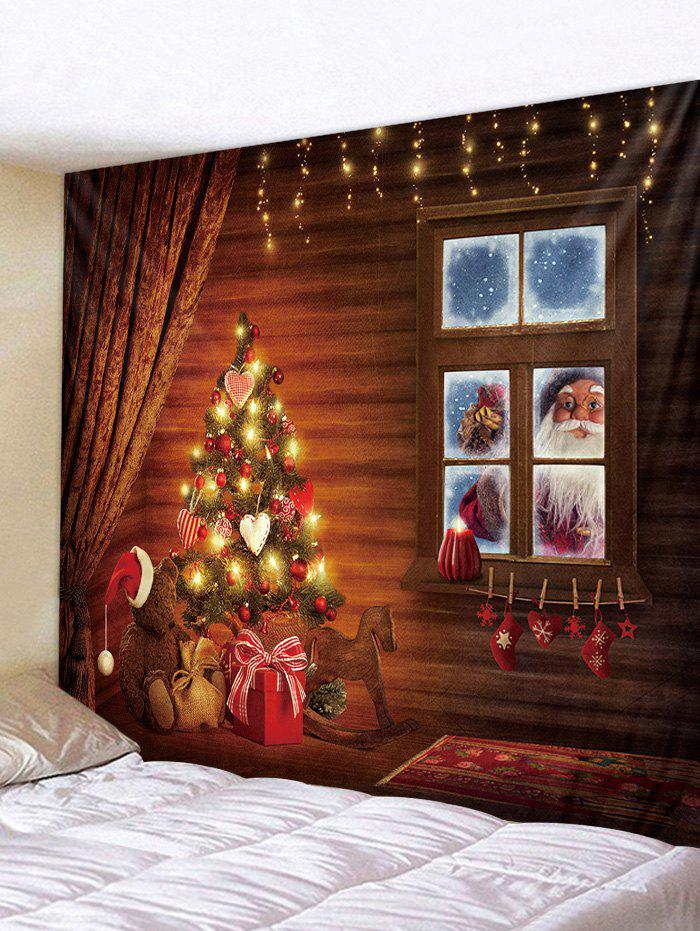 Fashion Father Christmas Gift Window Print Tapestry Art Decoration