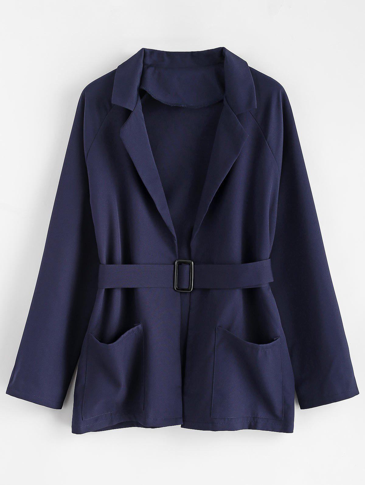 Affordable Plus Size Belted Coat
