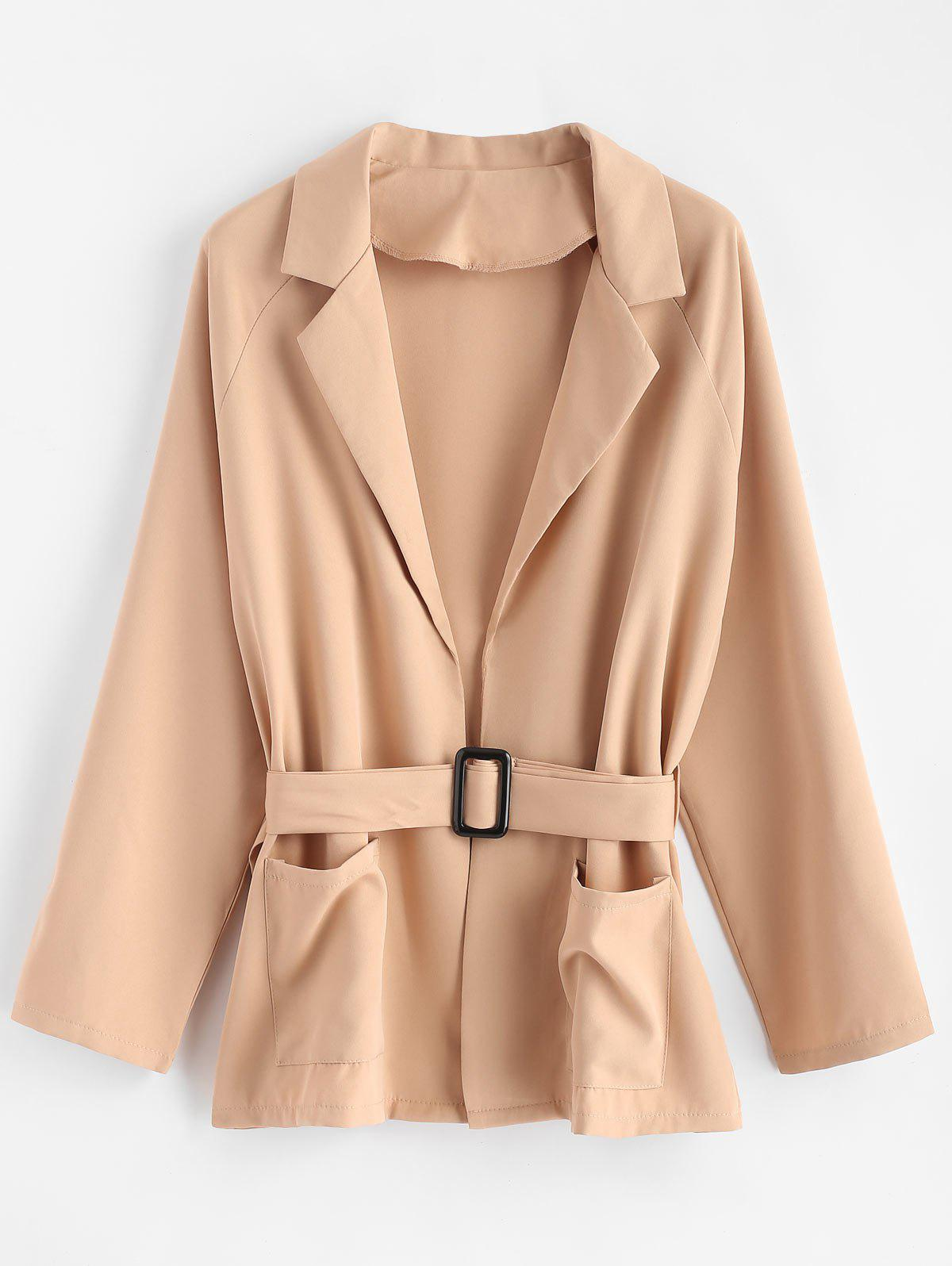 Cheap Plus Size Belted Coat