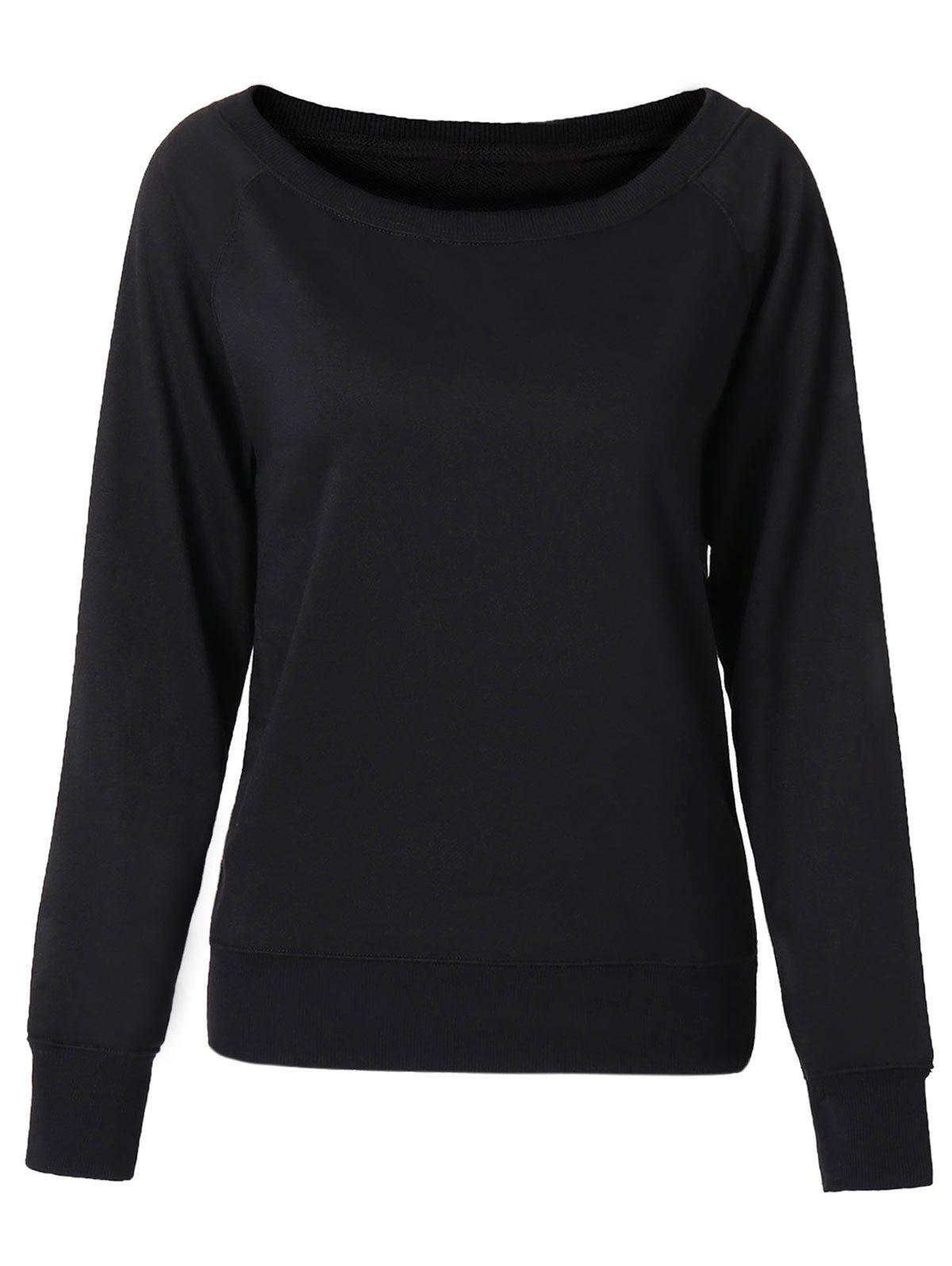 Cheap Chic Women's Pure Color Long Sleeve Sweatshirt