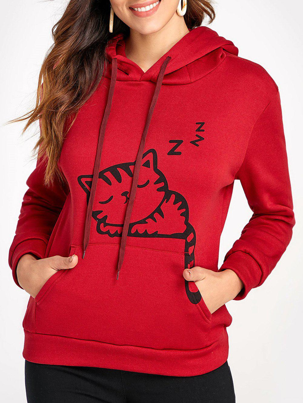 Fashion Kangaroo Pocket Cat Ear Hoodie