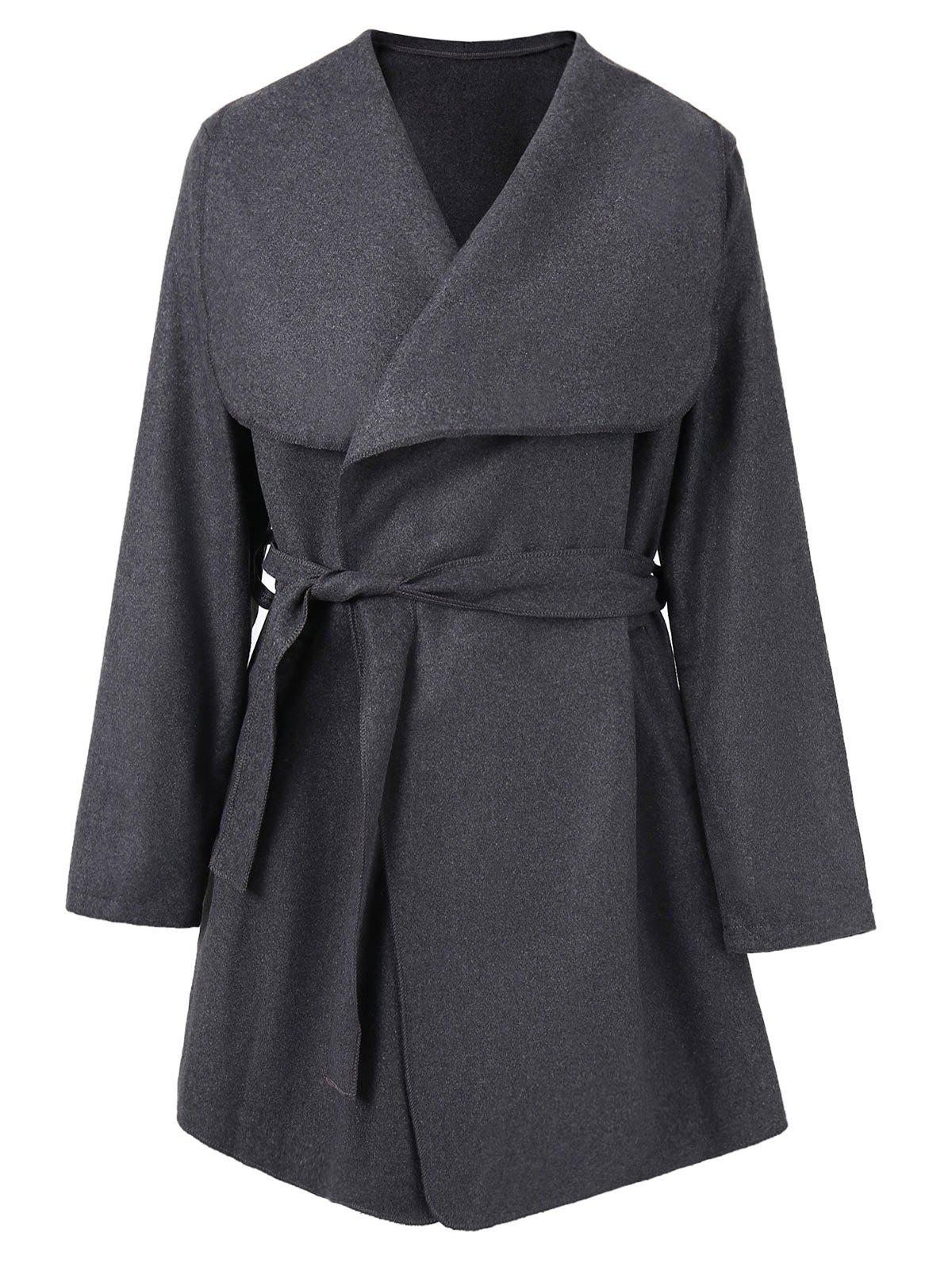 Cheap Shawl Collar Wrap Coat