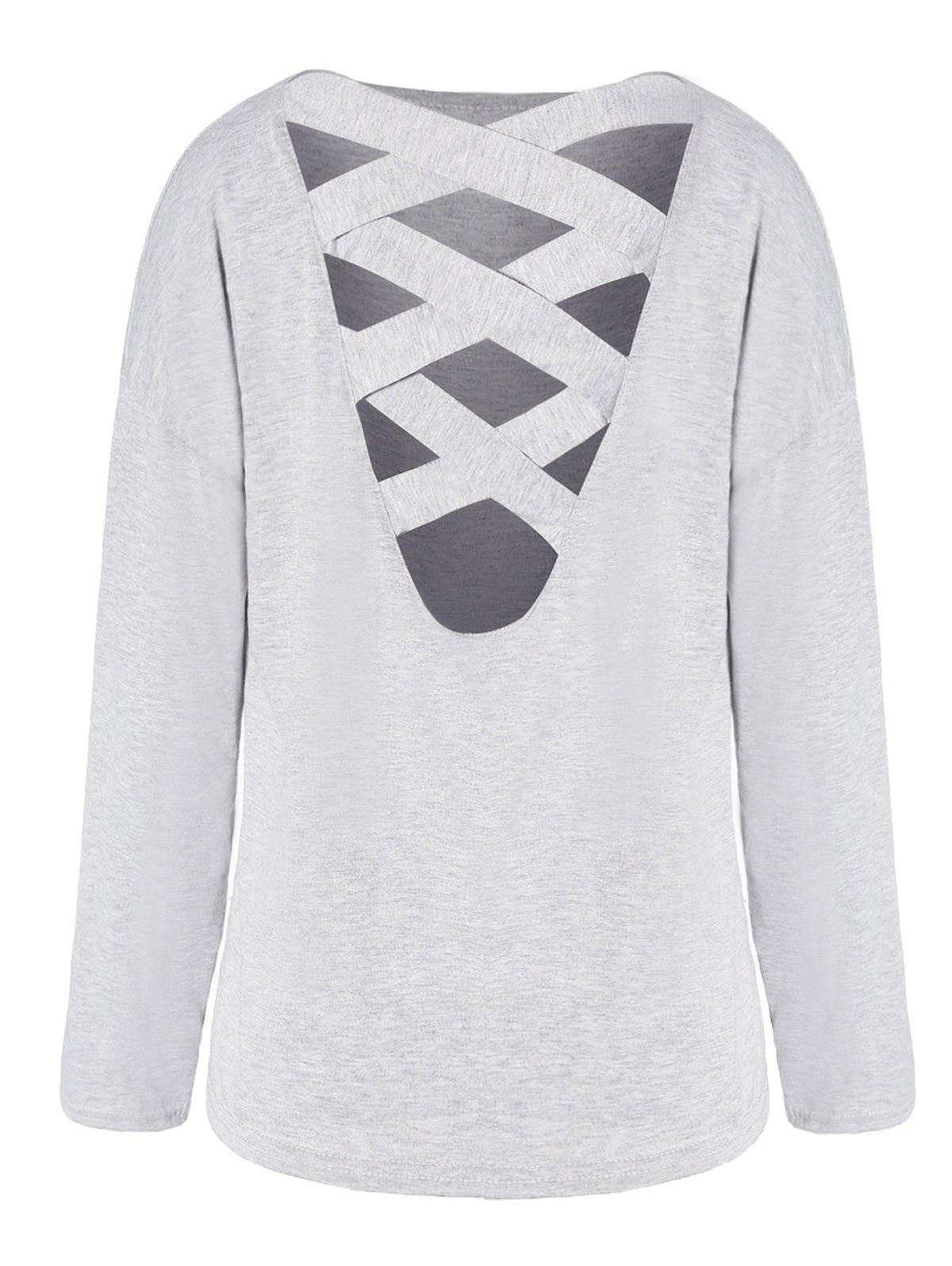 Outfits Cross Back Long Sleeve T-shirt