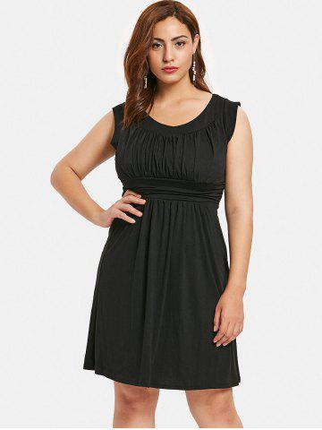 Plus Size Empire Waist Black Dress Free Shipping Discount And