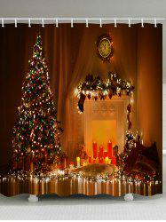 Christmas Tree Candle Waterproof Bath Curtain -