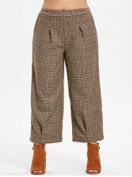 Plus Size Plaid Vintage Pants -