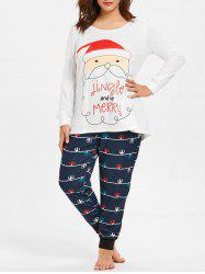 Christmas Plus Size Pajamas Set -