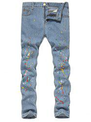 Splash Zip Fly Jeans -