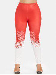 Christmas Plus Size Skinny Leggings -