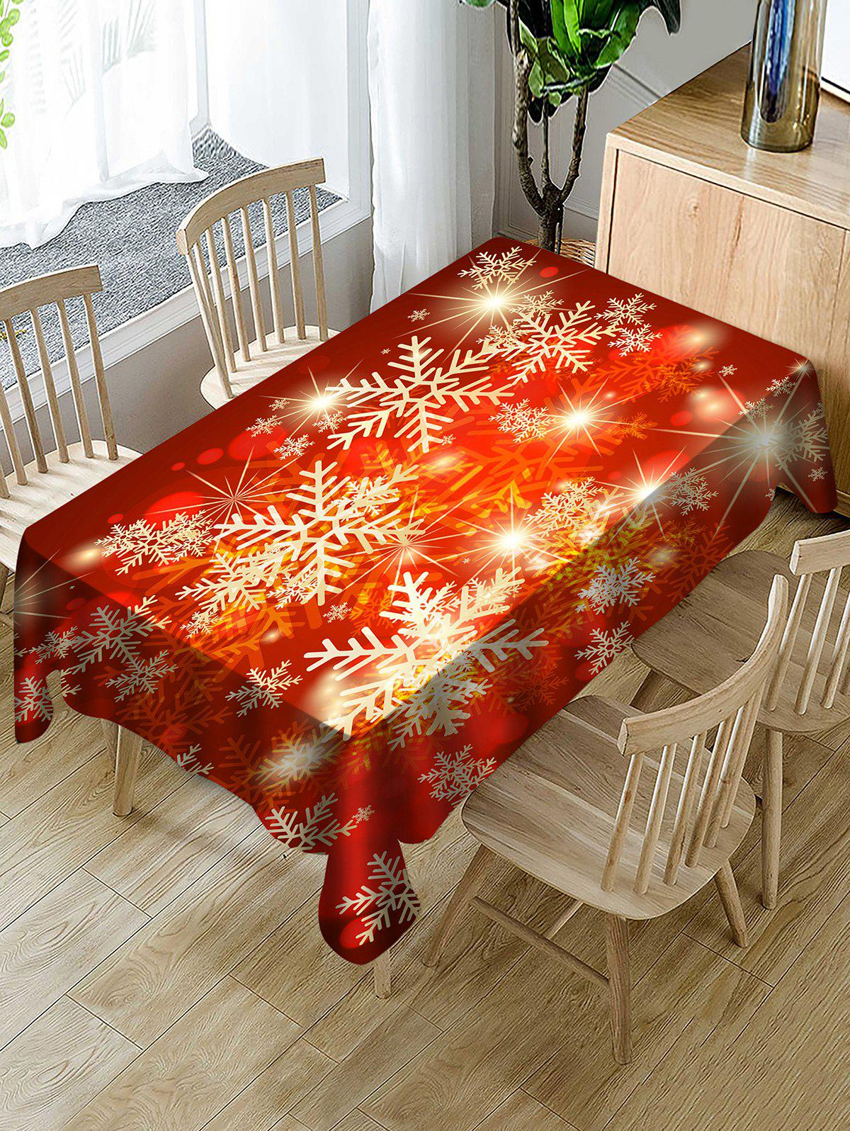 Shop Christmas Snowflake Waterproof Tablecloth