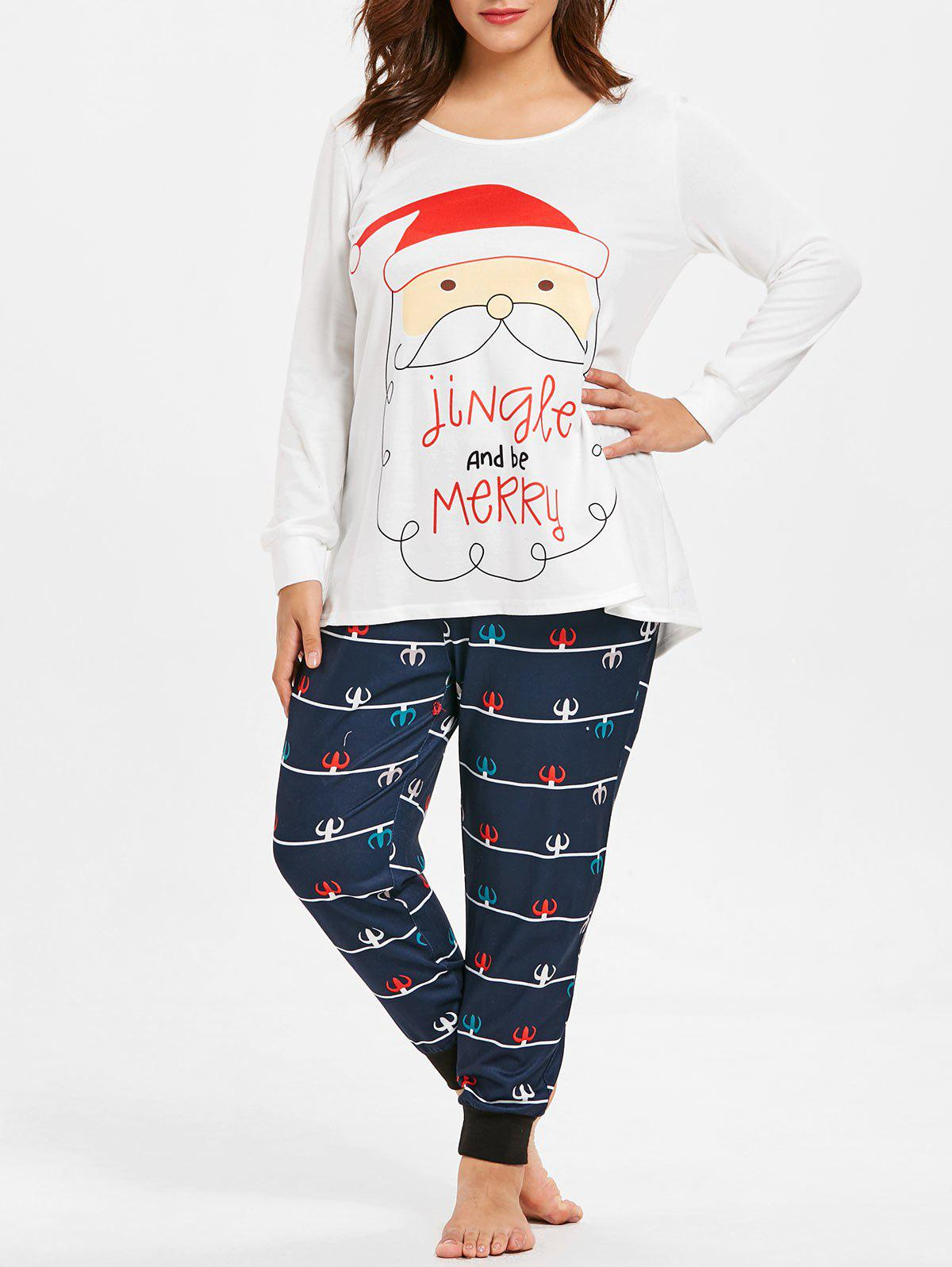 Outfit Christmas Plus Size Pajamas Set