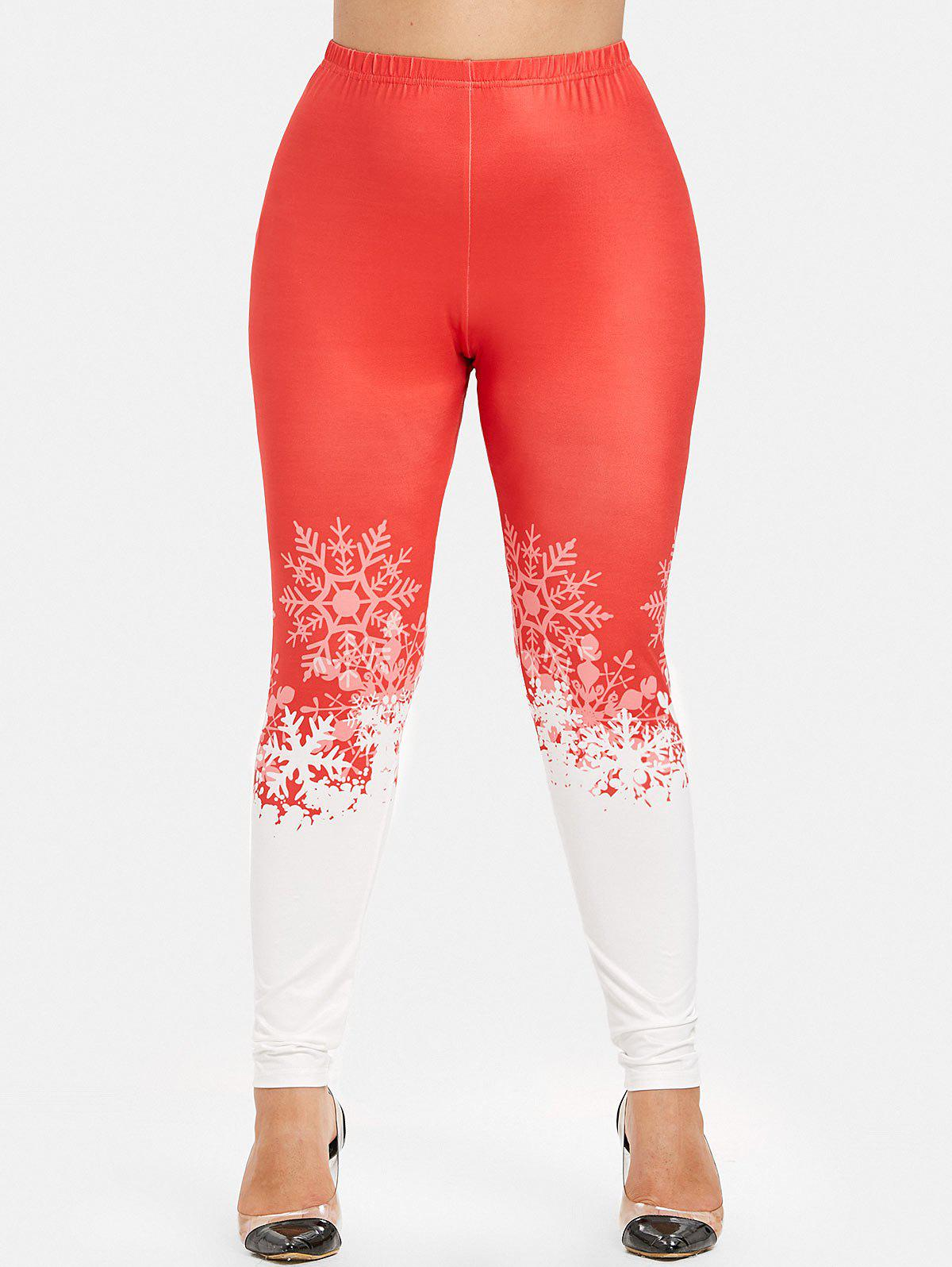 Buy Christmas Plus Size Skinny Leggings