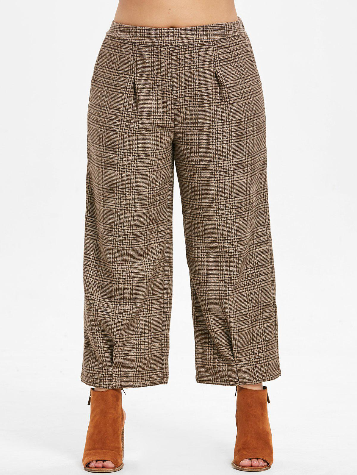 Outfit Plus Size Plaid Vintage Pants