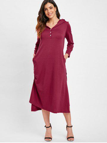 High Low Hooded Tunic Dress